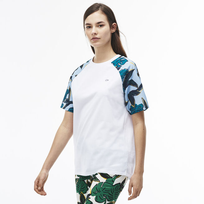Women's LIVE Tropical Print Baseball Shirt