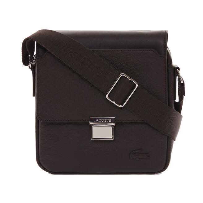 Men's Rafael Monochrome Leather Zip Crossover Bag
