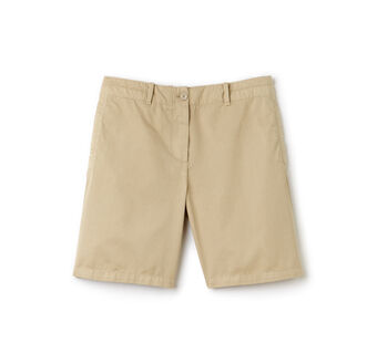 Women's Cotton Gabardine Bermuda Shorts