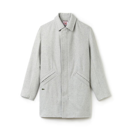 Men's Lacoste L!VE Wool Broadcloth Coat