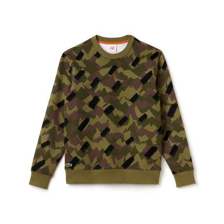 Men's Lacoste LIVE Camo Print Sweatshirt