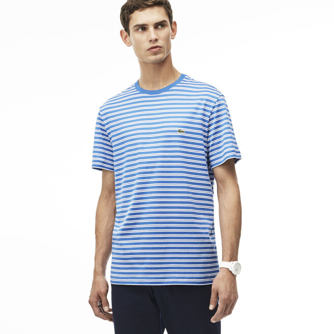 Men's Stripe Crewneck Jersey T-Shirt