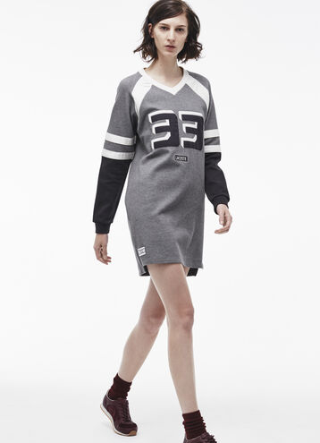 Varsity Graphic Sweatshirt Dress