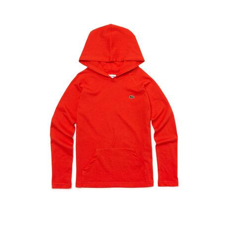 Boy's Long Sleeve Jersey Hoodie T-Shirt