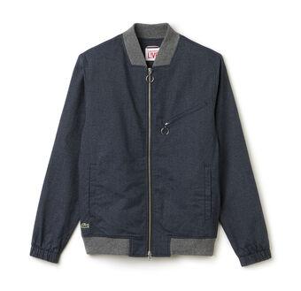 Men's L!VE Printed Flannel Bomber Jacket