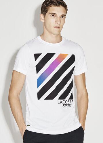Men's SPORT  Technical Jersey Print Crew Neck Tennis T-Shirt