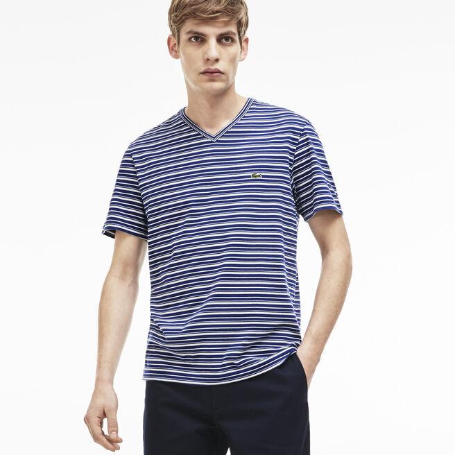 Men's Stripe V-Neck T-Shirt