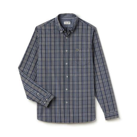 Men's Check Button Down Woven Shirt