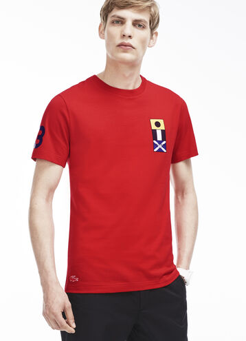 Men's Nautical Flag Detail T-Shirt