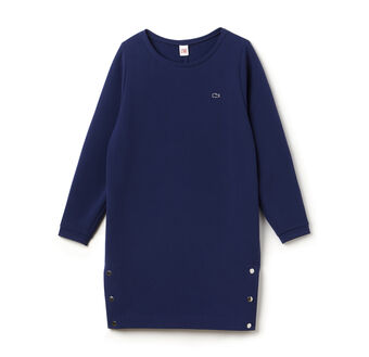 Women's L!VE Metal Snap Split Sweatshirt Dress