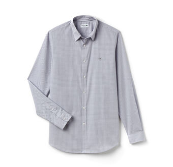 Men's Plaid Poplin Woven Shirt