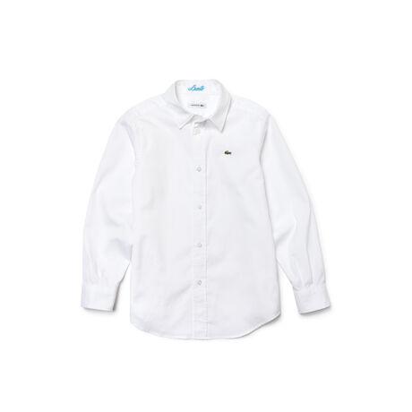 Kids' Oxford Cotton Knit Woven Shirt
