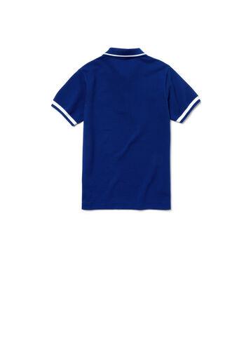 Boy's Candy Striped Cotton Polo Shirt