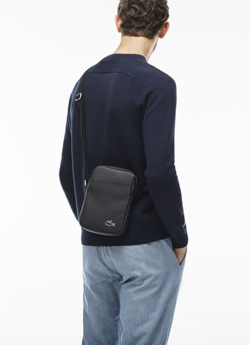 Men's Classic Fine Piqué Coated Canvas Vertical All-Purpose Bag