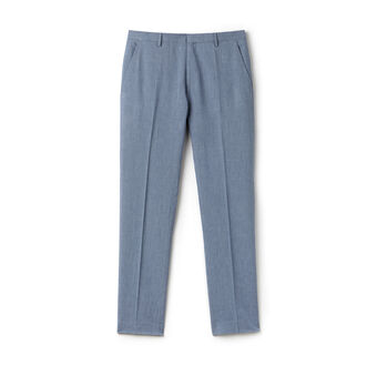 Men's Bicolor Cotton Linen Blend Suit Pants