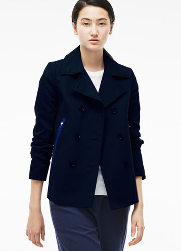Women's Cotton Zip Back Peacoat