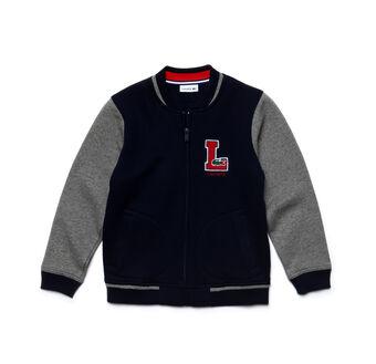 Kids' Color Block Cotton Fleece Bomber Jacket
