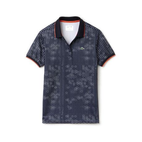 Women's Geometric Printed Technical Polo Shirt
