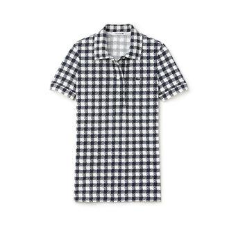 Women's Gingham Polo Shirt