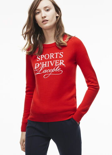 """Women's """"SPORTs D'Hiver"""" Graphic Wool Sweater"""
