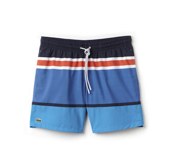 Men's Medium Cut Colorblock Swimming Trunks