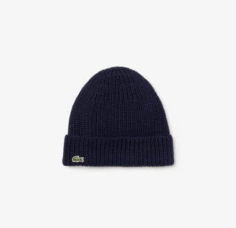 Men's Ribbed Wool Turned Edge Beanie