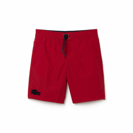 Men's Crocodile Long Fit Swim Trunks