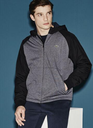 Men's Lacoste SPORT Tennis Bimaterial Quilted Jacket