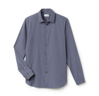 Long Sleeve Poplin Comfort Stretch Woven Shirt
