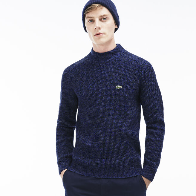 Men's Fancy Stitch Links Wool Sweater