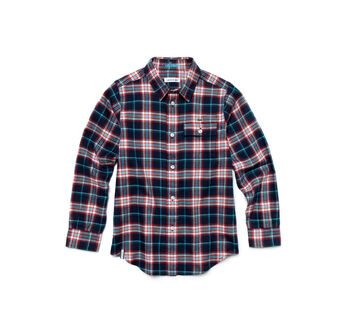 Kids' Check Cotton Flannel Shirt