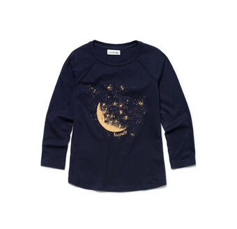 Girl's Moon & Stars Graphic Tee