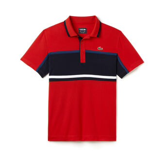 Men's SPORT Ultra Dry Chest Stripe Tennis Polo Shirt