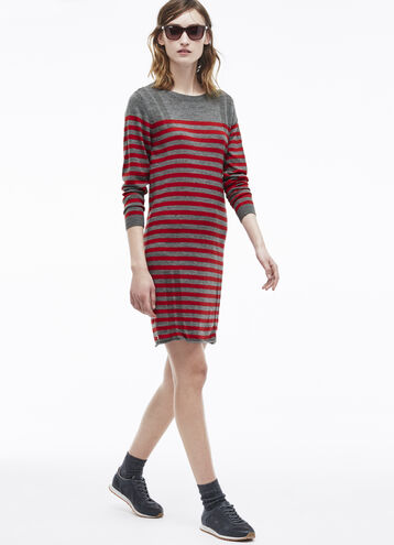Placement Stripe Sweater Dress