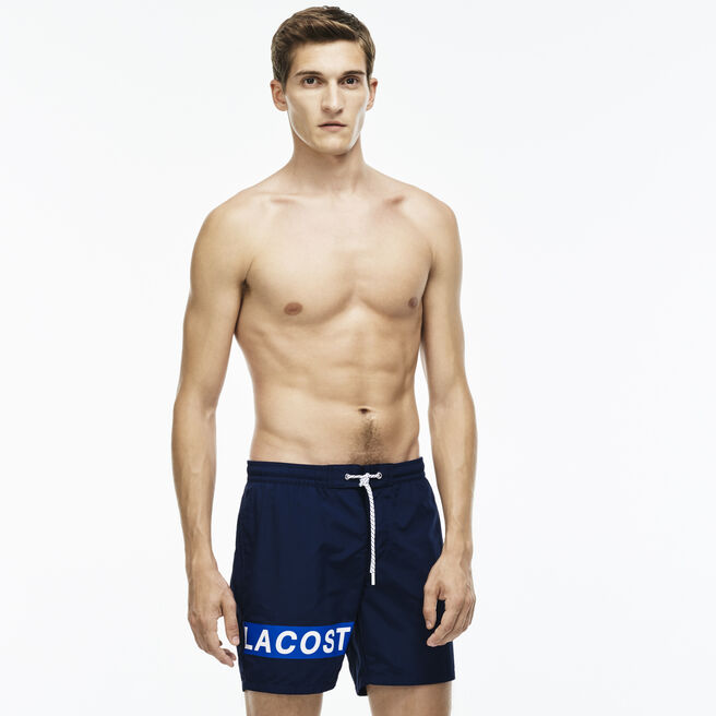 Men's Medium Cut Branded Swimming Trunks