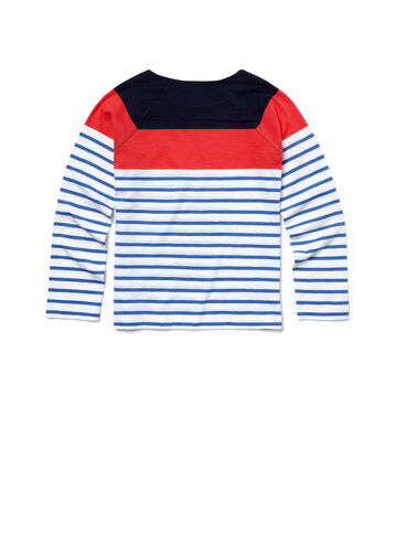 Kids' Striped Colorblock T-Shirt