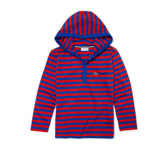 Kids' Long Sleeve Stripe Hoodie T-Shirt