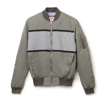 Men's L!VE Denim & Twill Color Block Bomber Jacket