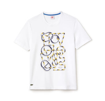Men's Lacoste L!VE Crew Neck Printed Jersey T-shirt