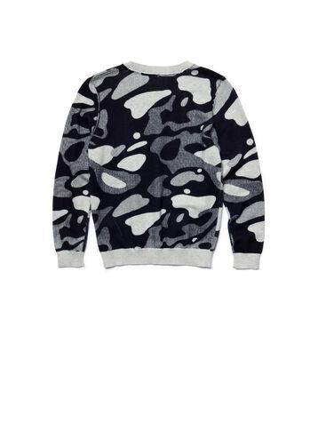 Kids' Crew Neck Camouflage Print Jersey Sweater