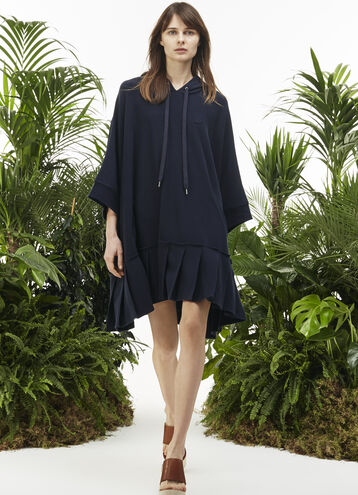 "Women's ""Fashion Show"" Hooded Cotton Sweater Dress"
