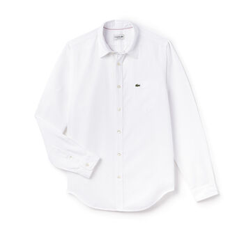 Men's Cotton Linen Long Sleeve Woven Shirt
