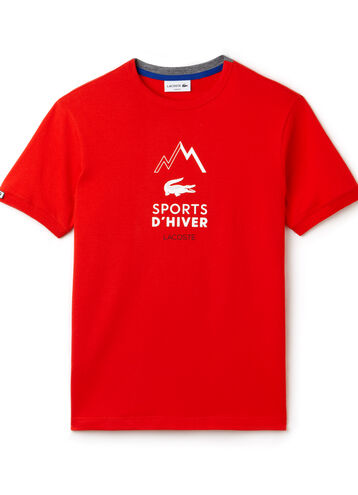 Men's Crew Neck Cotton Jersey Sports d'Hiver T-shirt