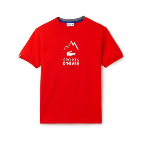 Men's Crew Neck Cotton Jersey Sports d'Hiver T-shirt