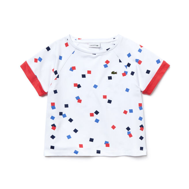 Girl's Square Print Fleece T-Shirt