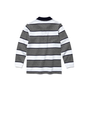 Kids' Striped Piqué Polo Shirt