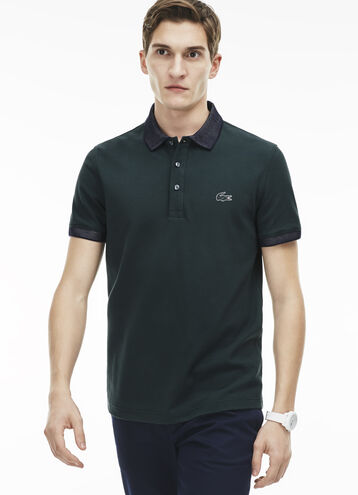 Men's Regular Fit Contrast Accents Polo Shirt