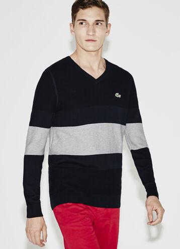 Men's SPORT Cotton V-Neck Golf Sweater