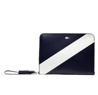 Women's Lacoste LIVE Coated Leather Mini Tennis Zip Clutch Bag
