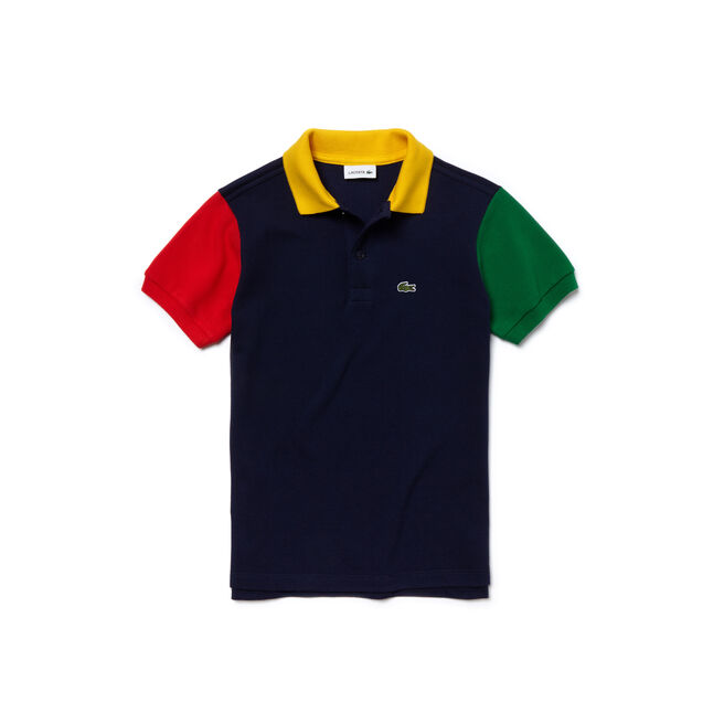 Kids' Classic Fit Colorblock Fine Cotton Piqué Polo Shirt